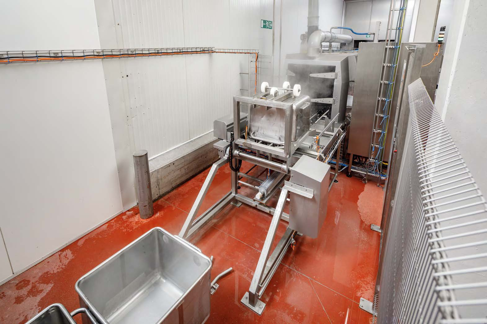 Cretel container washer vegetable industry