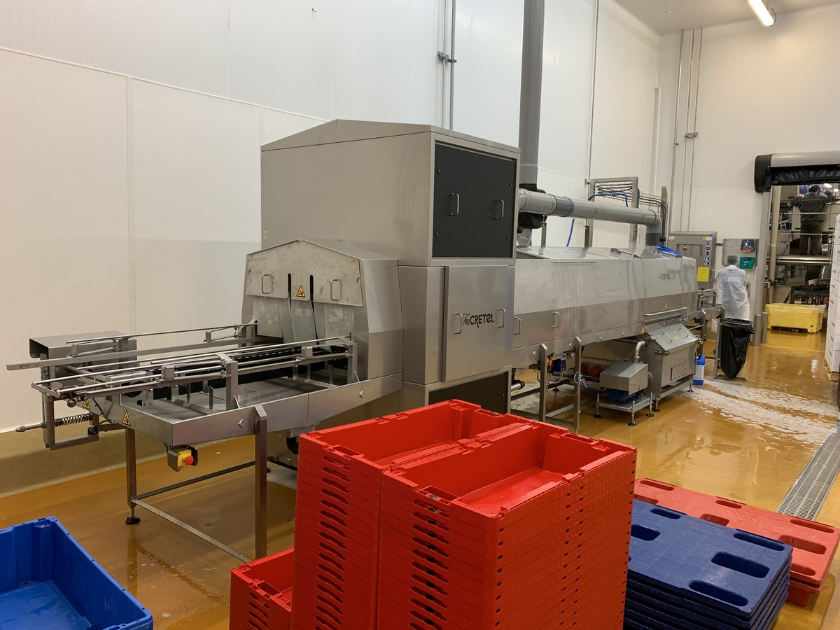 Cretel crate washer fish industry