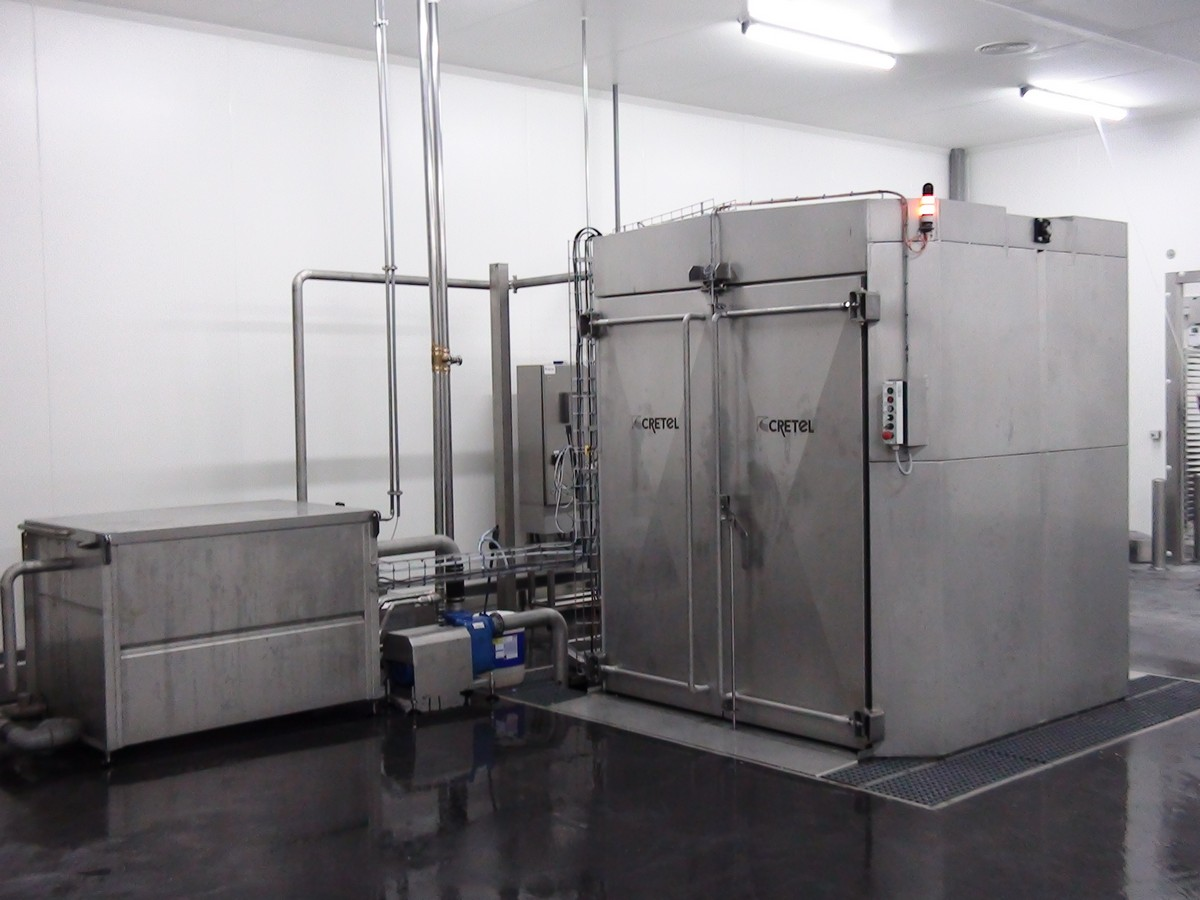 Rack and trolley washer salmon